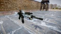 Automatic rifle Colt M4A1 skulls