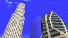 HD texture four skyscrapers in Los Santos