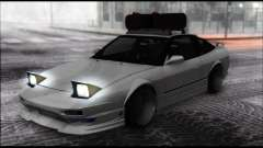 Nissan 240SX silver for GTA San Andreas