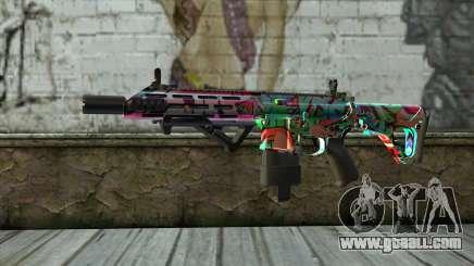Graffiti Assault rifle v2 for GTA San Andreas