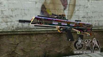 Graffiti Assault rifle for GTA San Andreas
