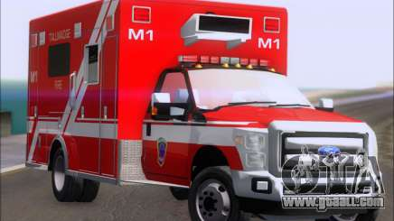 Ford F-350 Super Duty TFD Medic 1 for GTA San Andreas
