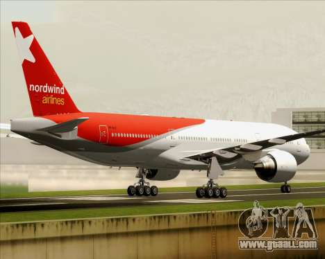 Boeing 777-21BER Nordwind Airlines for GTA San Andreas inner view