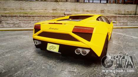 Lamborghini Gallardo 2013 Honoka Kousaka for GTA 4 back left view