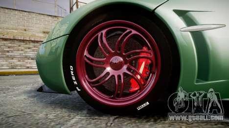 Pagani Huayra 2013 for GTA 4 back view