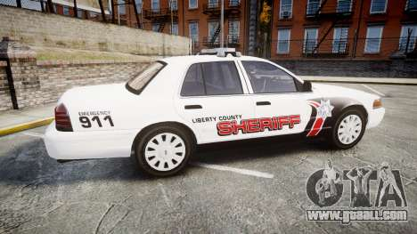 Ford Crown Victoria LC Sheriff [ELS] for GTA 4 left view