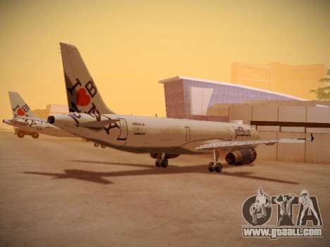 Airbus A321-232 jetBlue I love Blue York for GTA San Andreas right view