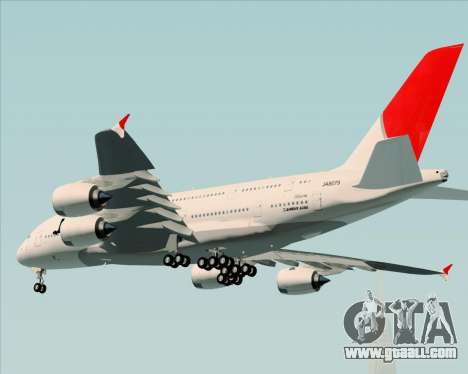 Airbus A380-800 Japan Airlines (JAL) for GTA San Andreas back view