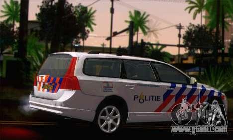 Volvo V70 LE Politie for GTA San Andreas left view