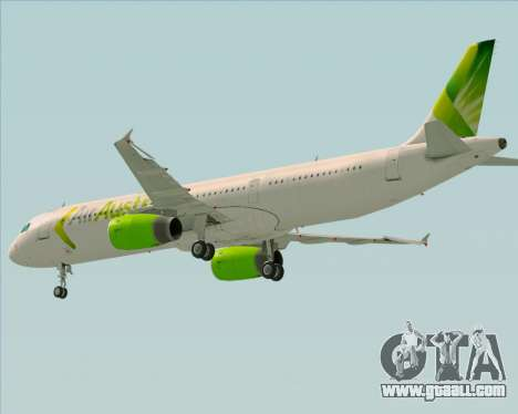 Airbus A321-200 Air Australia for GTA San Andreas side view