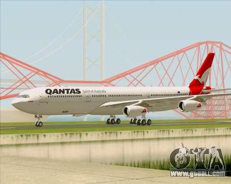Airbus A340-300 Qantas for GTA San Andreas back left view