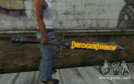 Sword from World of Warcraft for GTA San Andreas third screenshot