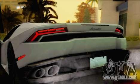 Lamborghini Huracan 2014 for GTA San Andreas back left view