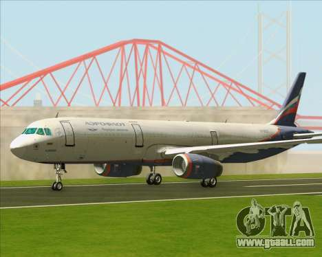 Airbus A321-200 Aeroflot - Russian Airlines for GTA San Andreas left view
