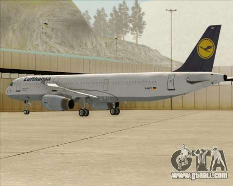 Airbus A321-200 Lufthansa for GTA San Andreas upper view