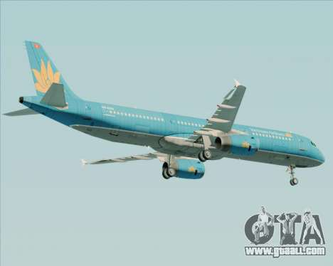 Airbus A321-200 Vietnam Airlines for GTA San Andreas inner view