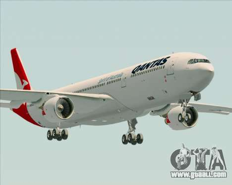 Airbus A330-300 Qantas (New Colors) for GTA San Andreas side view