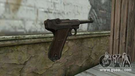 Luger P-08 for GTA San Andreas second screenshot
