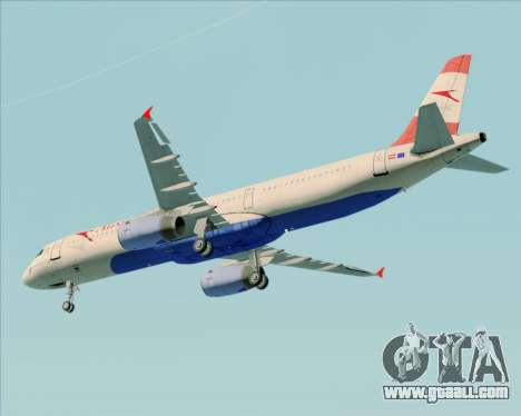 Airbus A321-200 Austrian Airlines for GTA San Andreas inner view