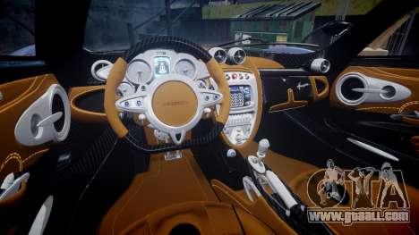 Pagani Huayra 2013 Carbon for GTA 4 inner view