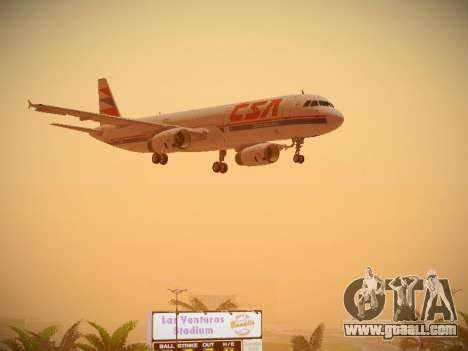 Airbus A321-232 Czech Airlines for GTA San Andreas side view