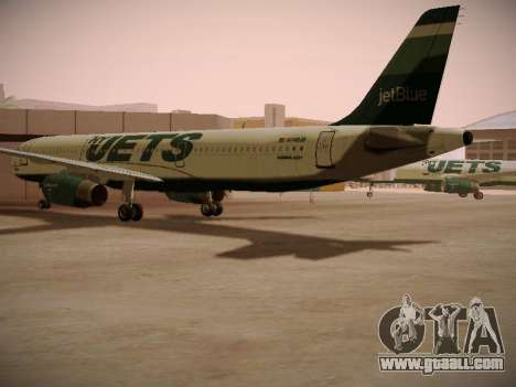 Airbus A321-232 jetBlue NYJets for GTA San Andreas right view