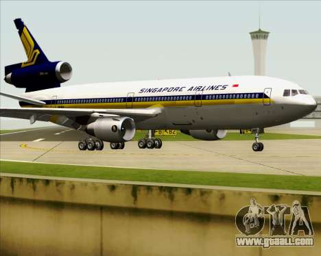 McDonnell Douglas DC-10-30 Singapore Airlines for GTA San Andreas side view