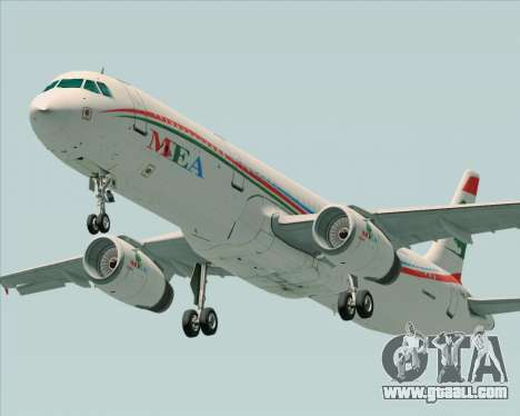 Airbus A321-200 Middle East Airlines (MEA) for GTA San Andreas inner view