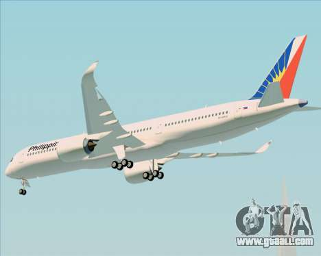 Airbus A350-900 Philippine Airlines for GTA San Andreas back view