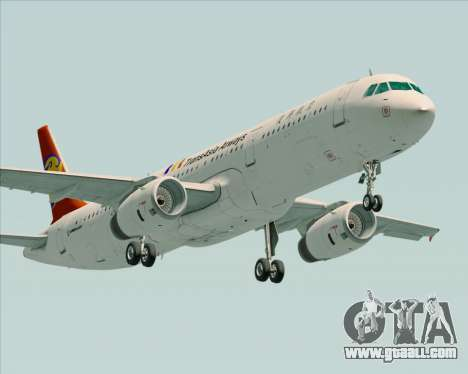 Airbus A321-200 TransAsia Airways for GTA San Andreas left view