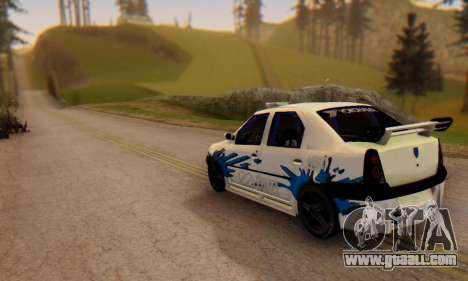 Dacia Logan Tuning for GTA San Andreas left view