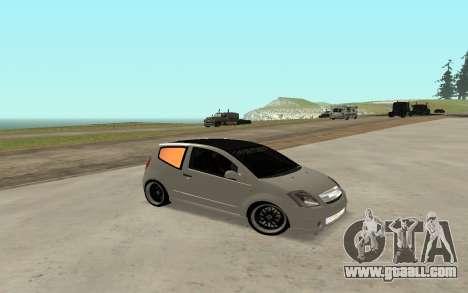 Citroen C2 for GTA San Andreas right view