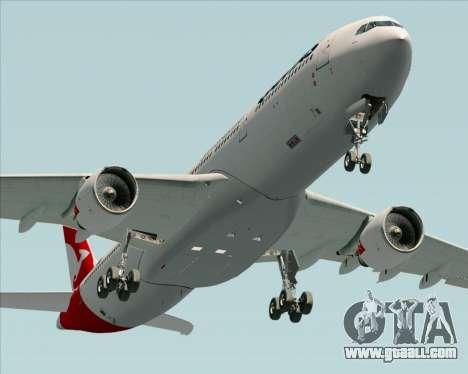 Airbus A330-300 Qantas (New Colors) for GTA San Andreas right view