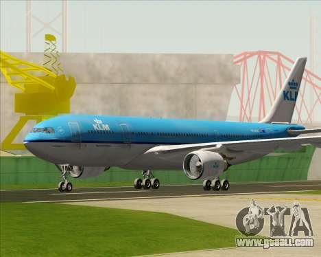 Airbus A330-200 KLM - Royal Dutch Airlines for GTA San Andreas left view