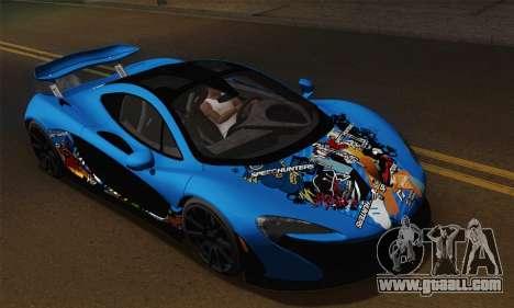 McLaren P1 Black Revel for GTA San Andreas right view