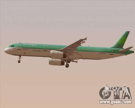 Airbus A321-200 Aer Lingus for GTA San Andreas wheels
