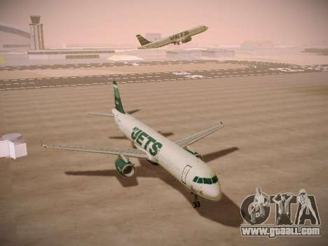 Airbus A321-232 jetBlue NYJets for GTA San Andreas back view