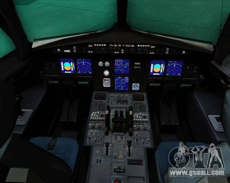 Airbus A321-200 Aeroflot - Russian Airlines for GTA San Andreas interior