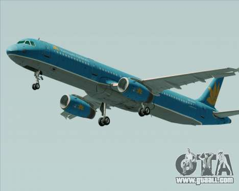 Airbus A321-200 Vietnam Airlines for GTA San Andreas left view