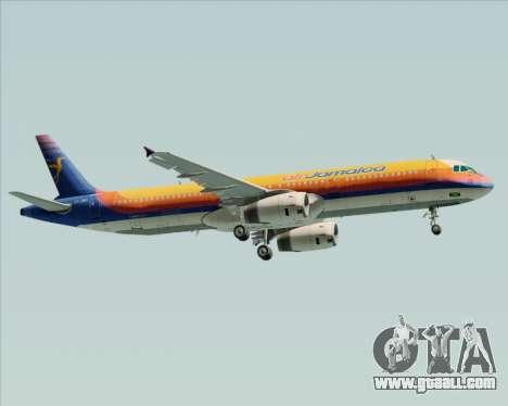Airbus A321-200 Air Jamaica for GTA San Andreas side view