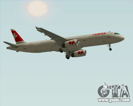 Airbus A321-200 Swiss International Air Lines for GTA San Andreas inner view