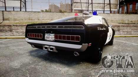 Shelby GT500 428CJ CobraJet 1969 Police for GTA 4 back left view
