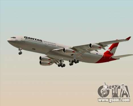 Airbus A340-300 Qantas for GTA San Andreas left view