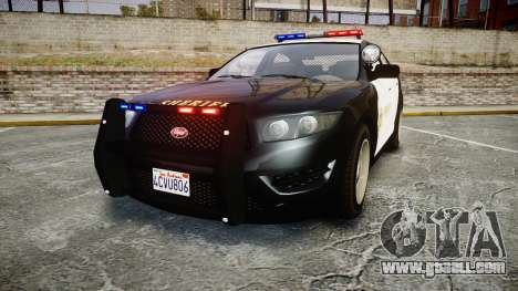 GTA V Vapid Interceptor LSS Black [ELS] for GTA 4