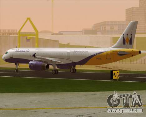 Airbus A321-200 Monarch Airlines for GTA San Andreas back left view