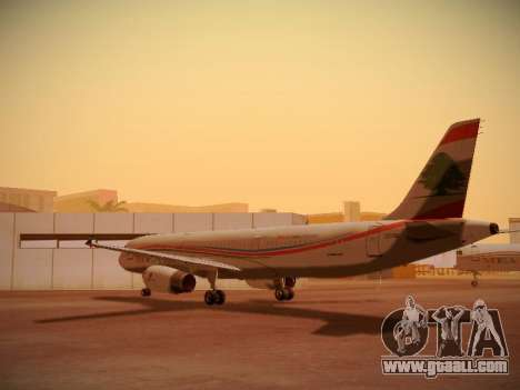 Airbus A321-232 Middle East Airlines for GTA San Andreas back left view