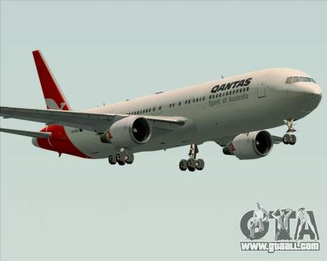 Boeing 767-300ER Qantas (Old Colors) for GTA San Andreas bottom view
