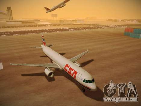 Airbus A321-232 Czech Airlines for GTA San Andreas back left view
