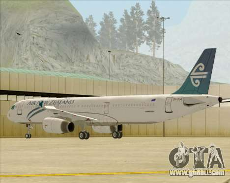 Airbus A321-200 Air New Zealand for GTA San Andreas wheels