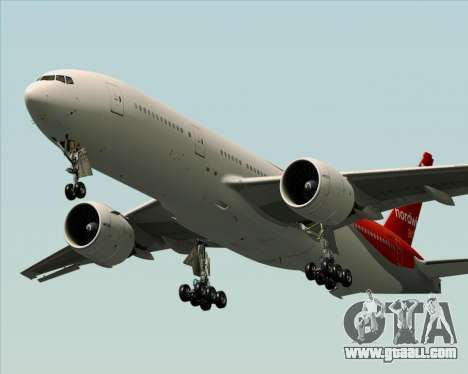Boeing 777-21BER Nordwind Airlines for GTA San Andreas engine